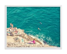 """""""Seaside"""" - Art Print by Alexandra Nazari in beautiful frame options and a variety of sizes."""