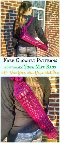 New Year, New Yoga Mat Bag Free Crochet Pattern -#Crochet; #Yoga; Mat Bag Free Patterns Crochet Handbags, Crochet Purses, Crochet Bags, Crochet Gifts, Crochet For Kids, Free Crochet, Irish Crochet, Crochet Ideas, Crochet Baby Cocoon