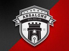 Absalons Boldklub. Logo for a local soccer club