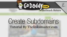Today, In This Video We Will Learn How We Can Create Subdomains For Our Domains. To Make In Using Cpanel Godaddy Tutorials In Hindi | Kya Hota Hai Aur Isse Kaise Bante Hai ?