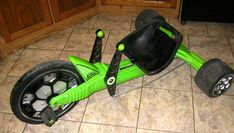 the green machine. great for spinning out in the driveway.