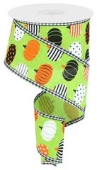 WIRED RIBBON – GyPsy BaRn ChiX Halloween Ribbon, Wreath Making Supplies, Floral Supplies, Gingham Check, Wired Ribbon, How To Make Wreaths, Decoration, Lime, Pumpkins