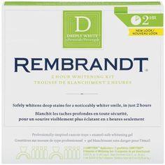 Rembrandt Deeply White 2-Hour Whitening Strips Teeth Whitestrips Whitener