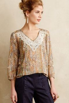 Meadow Rue Perenne Peasant Blouse #anthrofave