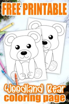 Add some fun to learning the Letter B with this free printable forest bear coloring page. Whether he's a cute bear cub or a grizzly brown bear, this adorable forest animal makes an ideal art project for toddlers and preschoolers. It's even a perfect chance to create your own three little bears, thanks to the easy outline and design. Click to get your printable bear coloring page template today! #Bearcoloringpages #Forestanimalcoloringpages #Coloringpages #Papercraftsforkids #SimpleMomProject Forest Animal Crafts, Bear Crafts, Animal Crafts For Kids, Paper Crafts For Kids, Preschool Crafts, Classroom Crafts, Forest Animals, Classroom Activities, Teddy Bear Coloring Pages