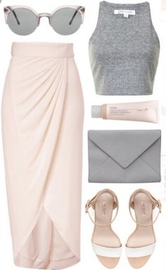 Top And Maxi Skirt Outfit Ideas 6 trendy spring outfits you can copy! - Page 26 trendy spring outfits you can copy! - Page 2 Mode Outfits, Casual Outfits, Fashion Outfits, Womens Fashion, Fashion Ideas, Cute Vegas Outfits, Night Outfits, Honeymoon Outfits, Fashionable Outfits