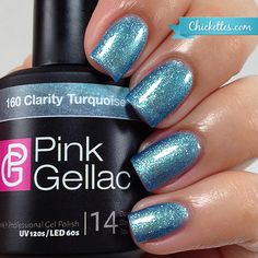 #160 Pink Gellac Clarity Turquoise :: Gel Colors :: Chickettes Boutique