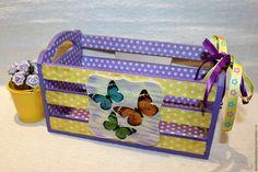 Купить Ящик Бабочки - короб для хранения, интерьер, кухня, ящик, кашпо, подставка, ящик из дерева