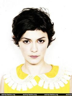 audrey tautou : hair.  Style.  Everything.
