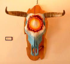 Love that it's mounted on wood Deer Skull Art, Skull Head, Painted Animal Skulls, Cowboy Artwork, Skull Stencil, Buffalo Skull, Antler Art, Barn Art, Skull Painting