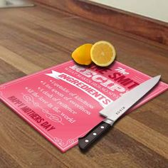 Personalised Recipe of Mum Chopping Board - Personalised Gift Solutions - 1