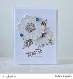Sometimes a little bit of color is enough. Altenew Spring Daisy stamps set. Details here: http://craftwalks.com/2016/05/17/altenew-stamp-focus-spring-daisy-video