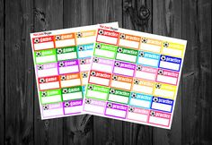 Sport Stickers Game Stickers Practice Stickers by RedLabelDesigns