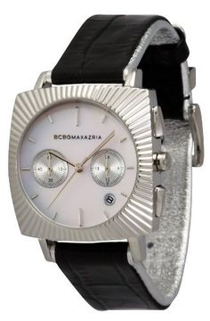 BCBGMAXAZRIA Women's BG6249 Elite Watch BCBGMAXAZRIA. $173.99. Water-resistant to 165 feet (50 M). High grade genuine leather strap. 3-hand japanese chronograph movement with date. Solid stainless steel case and caseback. Limited lifetime warranty