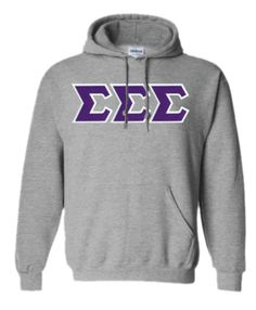$40 Sigma Sigma Sigma Lettered Hooded Sweatshirt