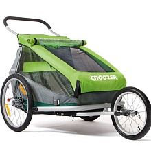 Baby bike trailer/jogger/stroller for camping next year. Such as: Croozer Kid for 2 (no I'm not having twins)