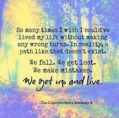 .We get up and live.