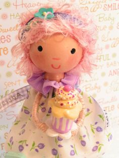 Available Pinky Punky Pooh Cake Topper by SweetiePieCaketopper, $65.00