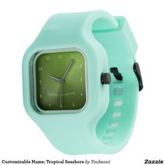 Customisable Name: Tropical Seashore Watch