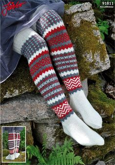 Knit it in our Mellanraggi. Sexy Socks, Slipper Boots, Knee High Socks, Crochet Accessories, Leg Warmers, Fingerless Gloves, Knit Crochet, Tights, Slippers