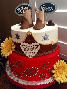 Cowboy themed Happy Birthday Cake