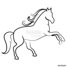"Download the royalty-free photo ""HORSE outline symbol vector"" created by olive1976 at the lowest price on Fotolia.com. Browse our cheap image bank online to find the perfect stock photo for your marketing projects!"
