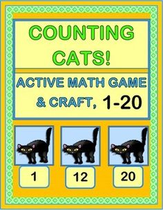 HALLOWEEN MATH FUN! Work with Number Recognition 1-20, Number Sequencing, and One-to-One Correspondence. Learn a funny RHYME with a great rhythm pattern! Use the Friendly Black Cat Number Template as the Game Boards for the Counting Game. Then turn the boards into a CRAFT ACTIVITY, with little cats doing a sequential Halloween March across a kid-created picket fence. (9 pages) From Joyful Noises Express TpT! $