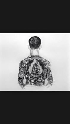Nice idea for a back tattoo!