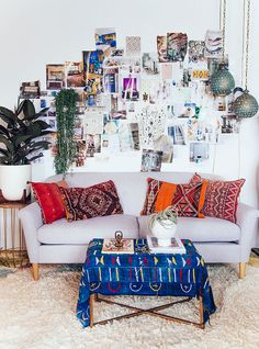 bohemian chill area for a home office or studio space