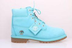 6e9406bf52b81 eBay  Sponsored Girl s Timberland 6-Inch Premium Waterproof Tidepool Blue  Boot Sz 6.5Y