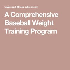 This sample baseball weight training program is a continuation of the baseball strength training article. Baseball Tips, Baseball Stuff, Baseball Mom, Weight Training Programs, Baseball Training, Strength Workout, Strength Training, Baseball Equipment, Athlete Workout
