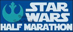 Star Wars Logo Light Side Marathon Digital Embroidery Machine Design File 5x7 6x10 by Thanks4TheAdventure on Etsy