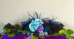 Flax & paper roses