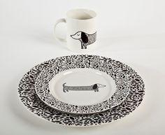 Dachshund Plate Set