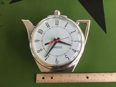 Vintage 1960s Kitchen Spartus Tea Kettle Tea Pot Coffee Pot Wall Clock Battery | eBay