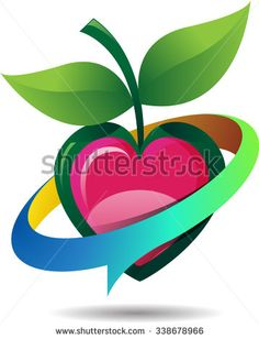 Abstract vector, icon save your heart, with a love of life in nature - stock vector