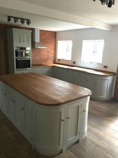 "Image result for wood worktop ""sage cabinet"""