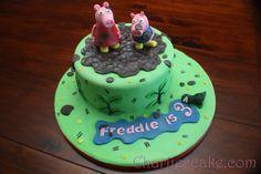 Peppa Pig Cake Template Free cakepins.com