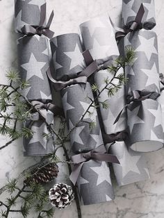 Stars Wrapping Paper - Light Grey
