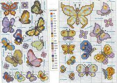 Nice and small cross stitch patterns of butterflies - free cross stitch patterns…
