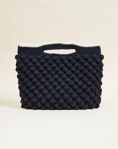 Wool Knit Clutch