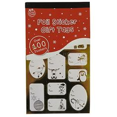 100 Foil Sticker Christmas Gift Tags Labels Gold and Silver * New and awesome product awaits you, Read it now  : Christmas Gifts