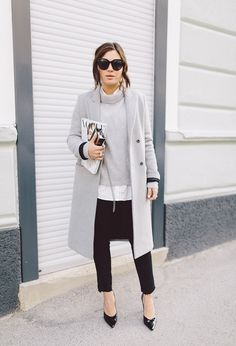 gray, black & white