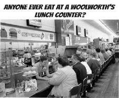 Ate at Woolworth's (I think it was them) lunch counter in Monroeville Mall (Pittsburgh) in the early 80's.