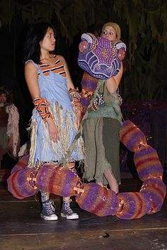Kaa snake body puppet.                                                                                                                                                                                 More