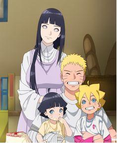 Naruto family // Uzumaki family // NaruHina // Naruto, Hinata, Boruto and Himawari