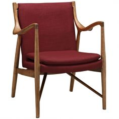 Argocosta Upholstered Lounge Chair - Red   Memoky.com