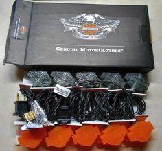 Exceptional Harley Davidson Bar U0026 Sheild Bu0026s Rv Camper Game Room Party String Lights 20  Nib