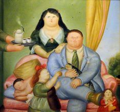 Familia Botero- painting to work with family and culture Spanish Culture, Spanish Art, Frida Diego, 19 Avril, Colombian Culture, Mexico Art, Naive Art, American Artists, Art World