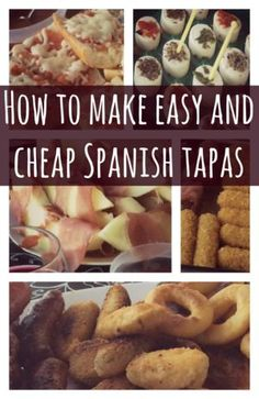 Tapas are small dishes served with drinks many places is Spain. Learn how to make your own traditional tapas. It is surprisingly easy and cheap! Spanish Cuisine, Spanish Dishes, Spanish Food, Spanish Recipes, Spanish Meals, Tapas Dinner, Tapas Party, Paella Party, Tapas Menu